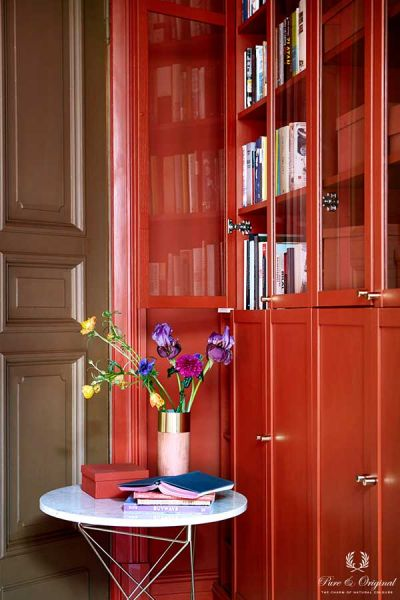 Inspiration Collection 2017 office closet, Traditional Paint and Classico in Brown Red, lacquer Praline
