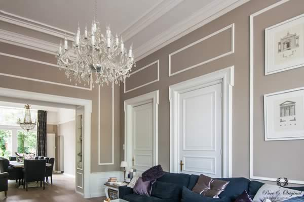 Licetto in the colour North Sea Silt, applied in the living and dining room