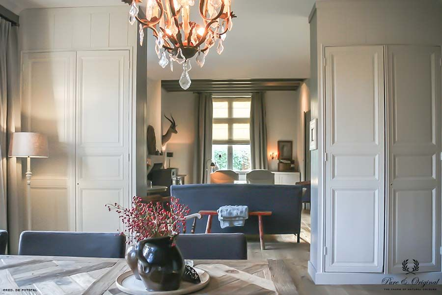 Traditional Paint in the colour Chalk White, applied in the living and dining room