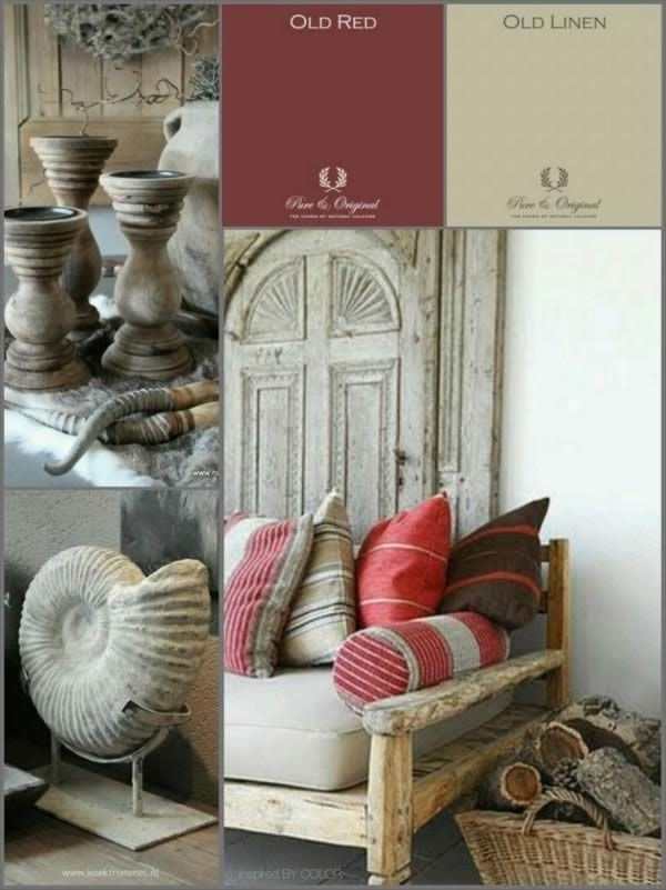Red and beige by Inspired by Color