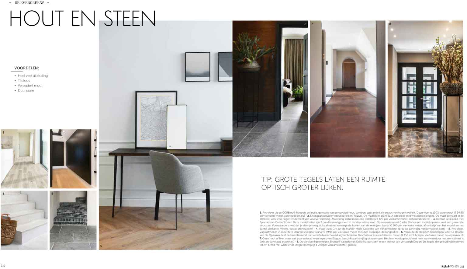 Floors made of wood and stone as inspiration