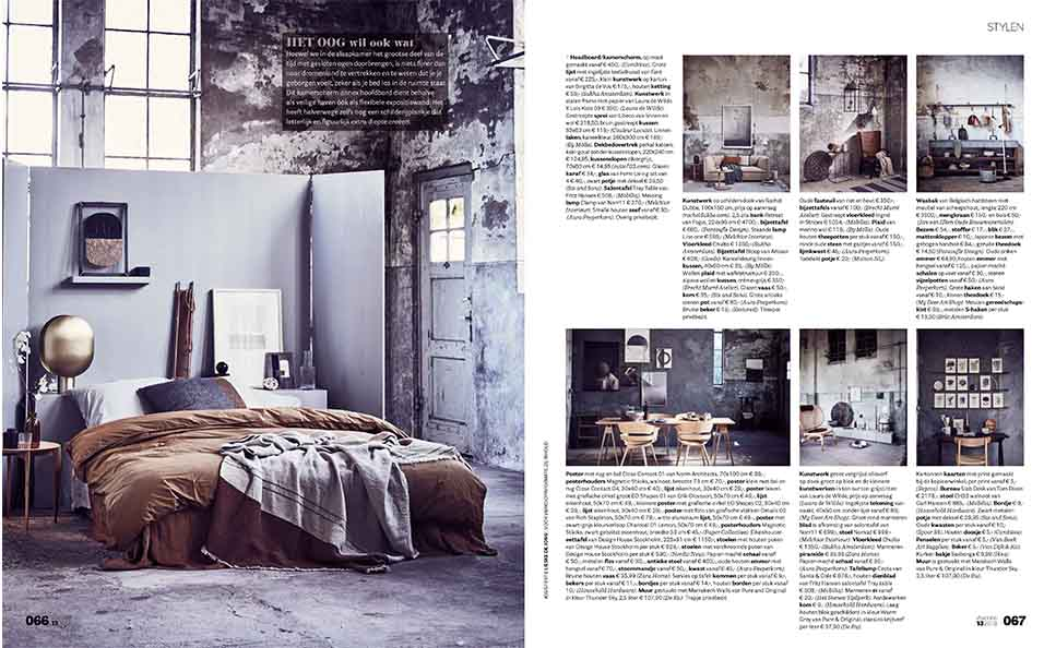Pure & Original published in vtwonen magazine